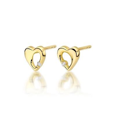 Kolczyki diamenty biżuteria złota