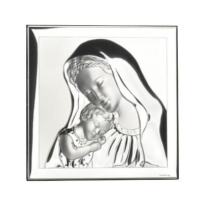 Srebrny obrazek-Matka Boska