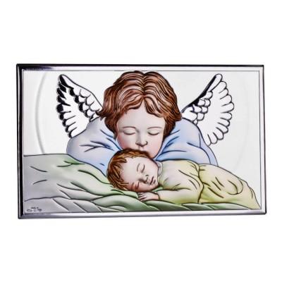 Obrazek Srebrny Anioł Stróż - kolor