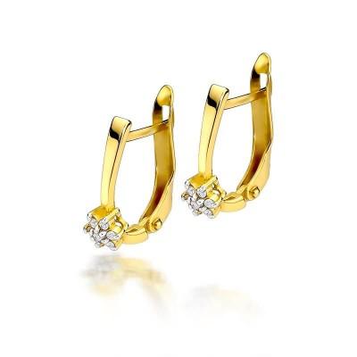 Złote kolczyki z brylantami prezent