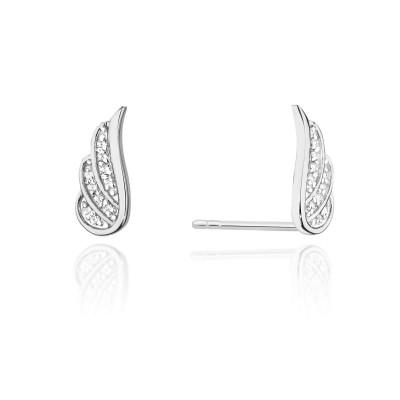Kolczyki z diamentami - skrzydła
