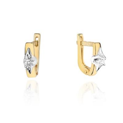 Biżuteria złota kolczyki z brylantami prezent