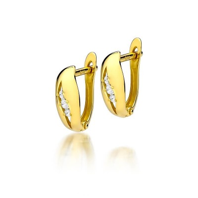 Biżuteria złota kolczyki z brylantami upominek