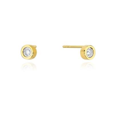 Kolczyki złote z diamenty
