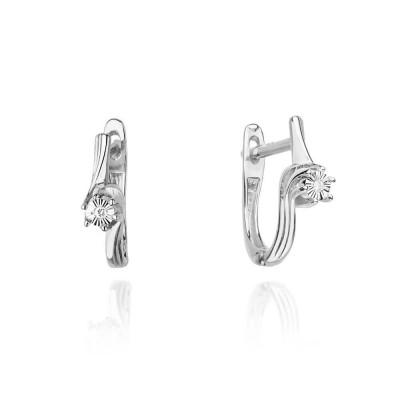 Kolczyki z diamentami biżuteria złota