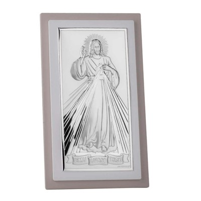 Srebrny obrazek Jezus Miłosierny