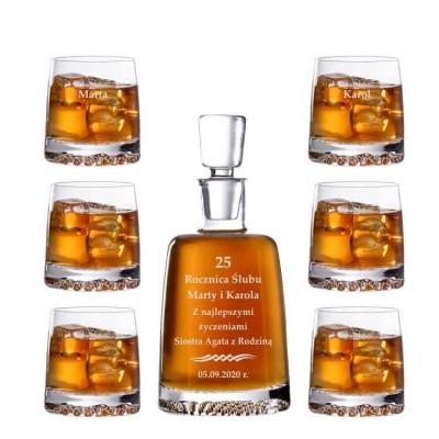 Grawerowany zestaw do whisky