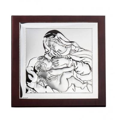 Srebrny obrazek Maryja karmiąca Syna