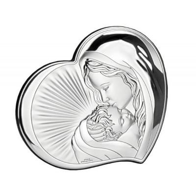 Obrazek srebrny Pocałunek Matki