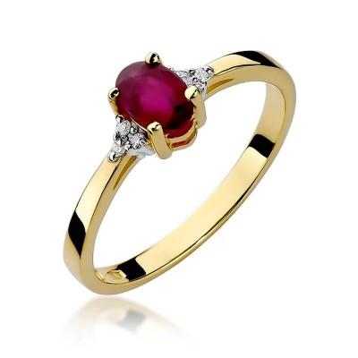 Pierścionek zaręczynowy rubin