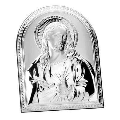 Obrazek srebrny - Serce Jezusa