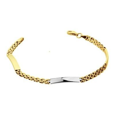 Złota bransoletka Prezent z dedykacją