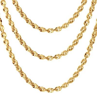 Łańcuszek złoty ozdobny 585