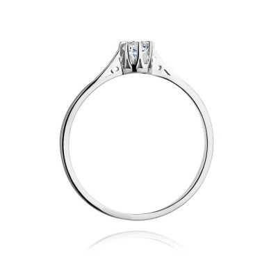 Pierścionek zaręczynowy białe złoto z brylantem