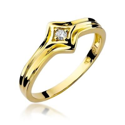 Pierścionek na zaręczyny żółte złoto
