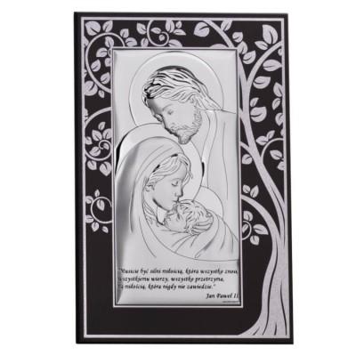 obraz świętej rodziny srebrny duzy