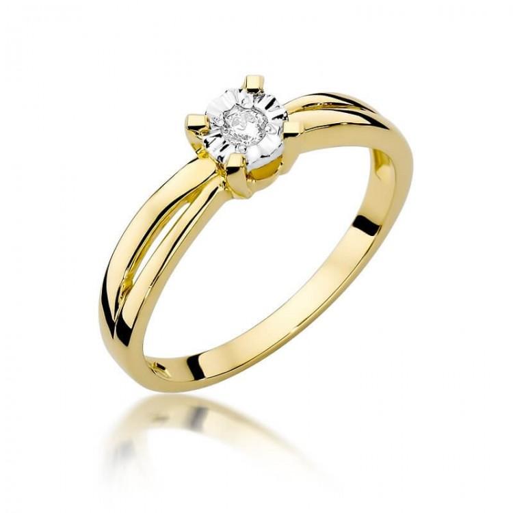 Celebrytka złota z Diamentem Au585