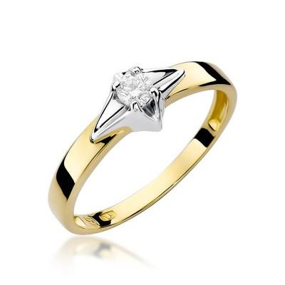 Pierścionek z brylantem na zaręczyny – dedykacja gratis