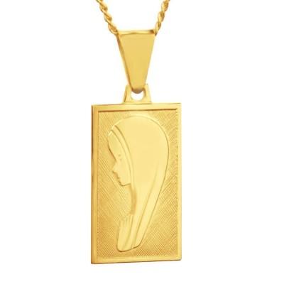 Medalik złoty. Prezent na Komunię