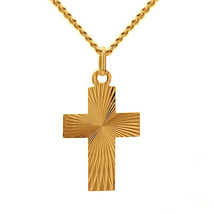 Złoty krzyżyk na prezent
