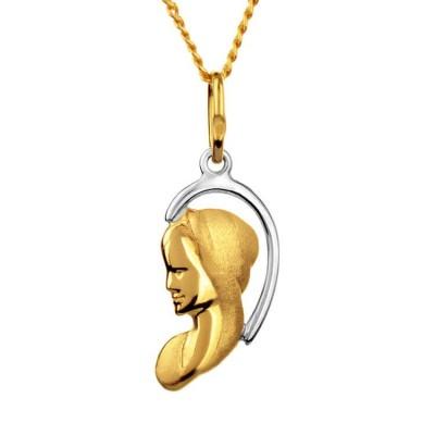 Medalik złoty 585 na prezent Matka Boska Fatimska