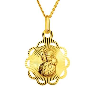 Złoty medalik Matka Boża Częstochowska